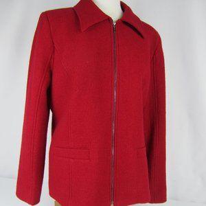 Pendleton Red Wool Full Zip Jacket Women Large